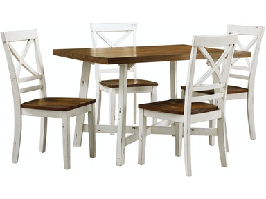 Standard Furniture Leg Table With 4 Chairs 19082