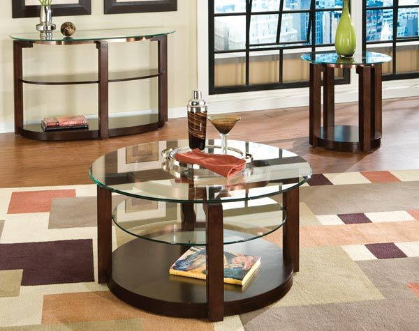 Standard Furniture Living Room Table, Cocktail Round With