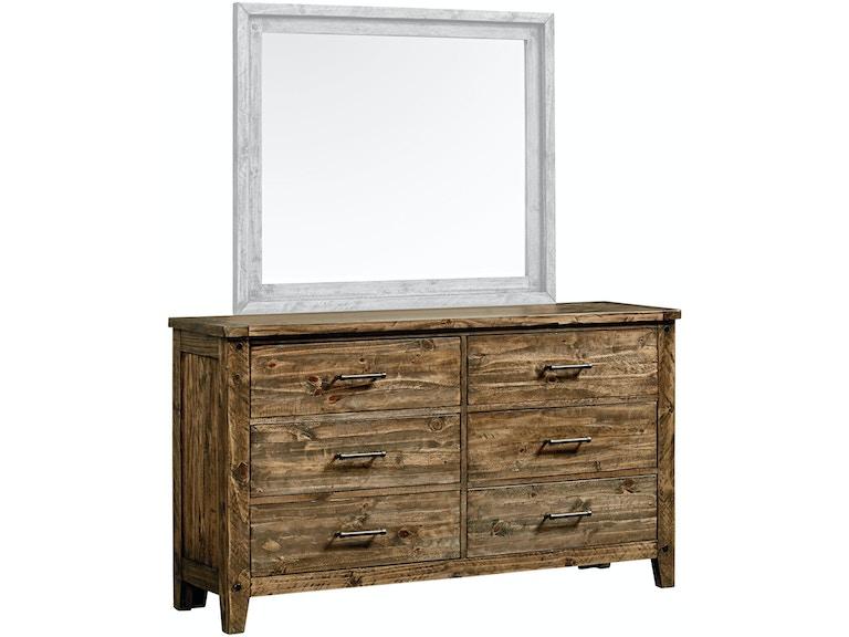 Nelson 6 Drawer Dresser Rustic Pine