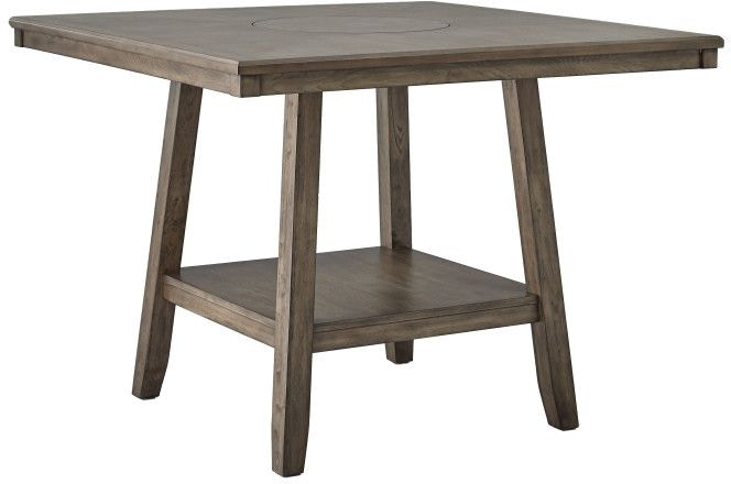 Counter Height Dining Set With Lazy Susan