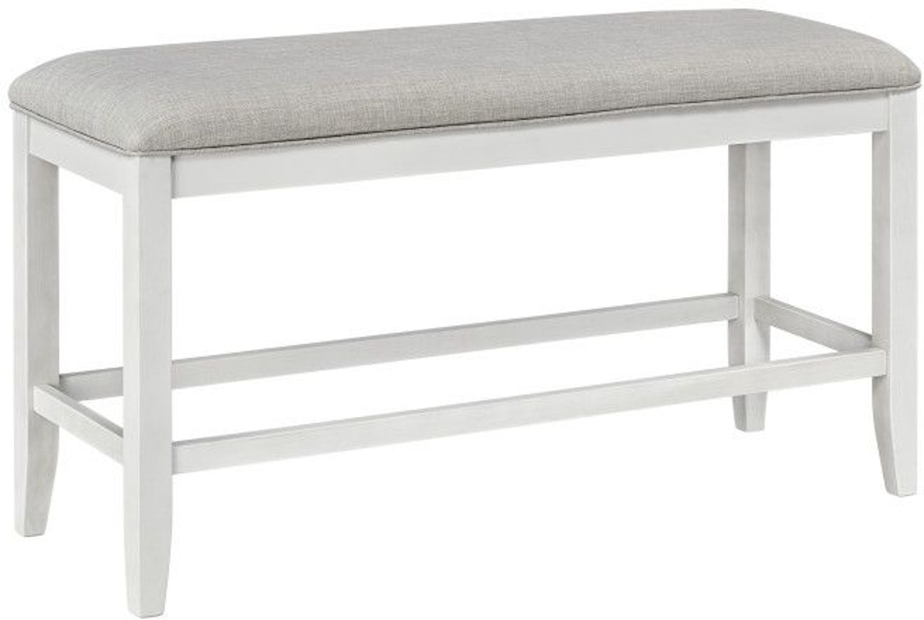 Standard Furniture Dining Room Kyle Light Counter Height Upholstered Bench White 16795 Louis