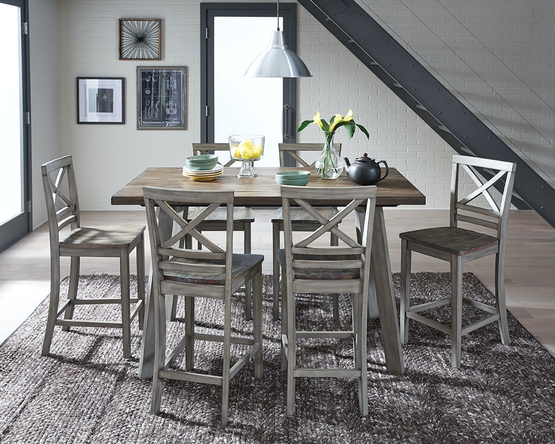 Standard Furniture Dining Room Leg Table And 4 Chairs