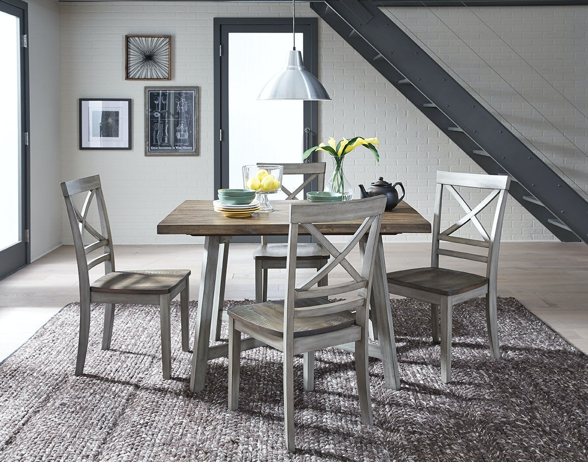 Amazing Standard Furniture Dining Room Counter Height Table And 4 Chairs 12872 At Kamin  Furniture