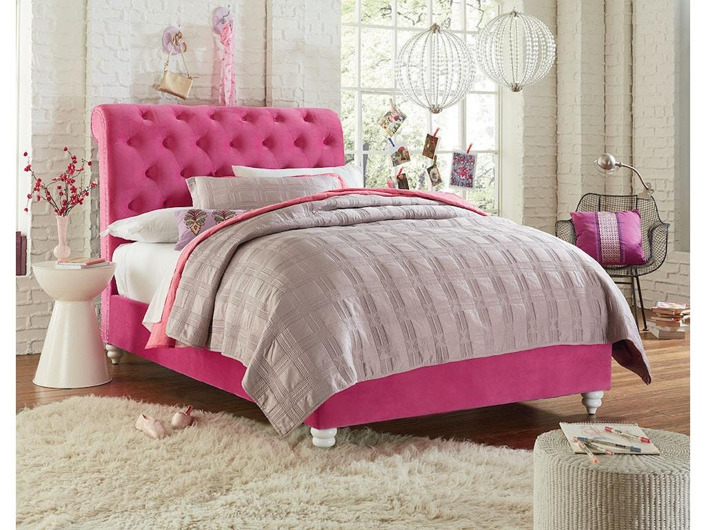Standard Furniture Youth Bedroom Uph Pink Headboard 3 3