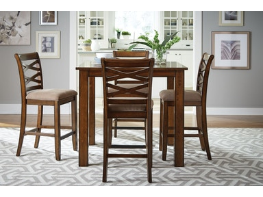 Standard Furniture Dining Room Leg Table With 6 Chairs