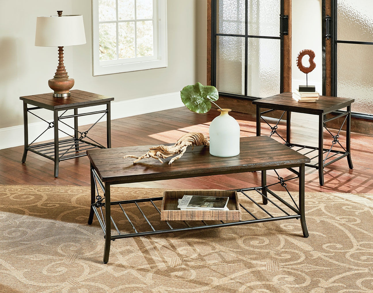 standard furniture living room 3-pack table set 28173 - bob mills