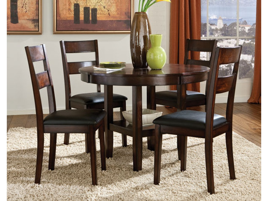 Standard Furniture Dining Room Round Leg Table With 4
