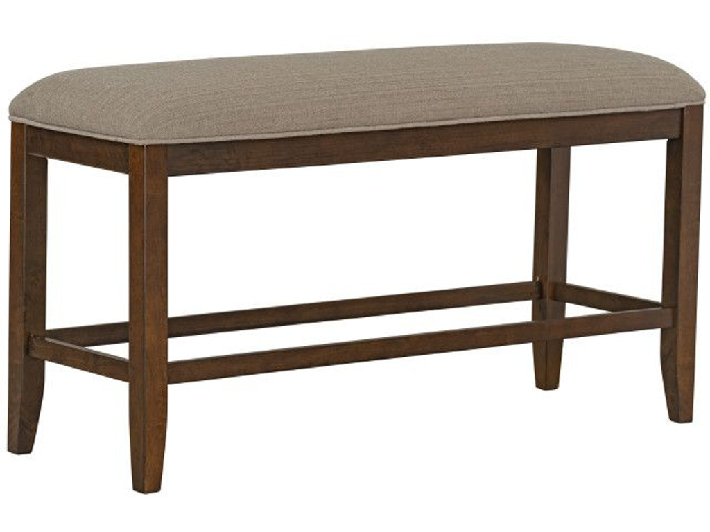 Standard Furniture Dining Room Kyle Dark Counter Height Upholstered Bench Brown 16595 Valeri