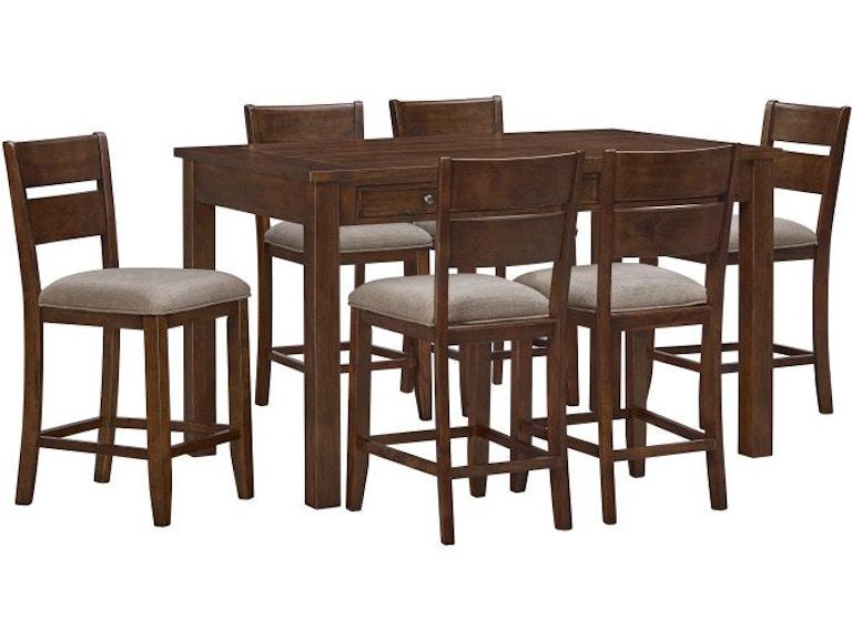 Standard Furniture Dining Room Kyle Dark 5 Pack Dining Set Brown 16596 Darbys Big Furniture