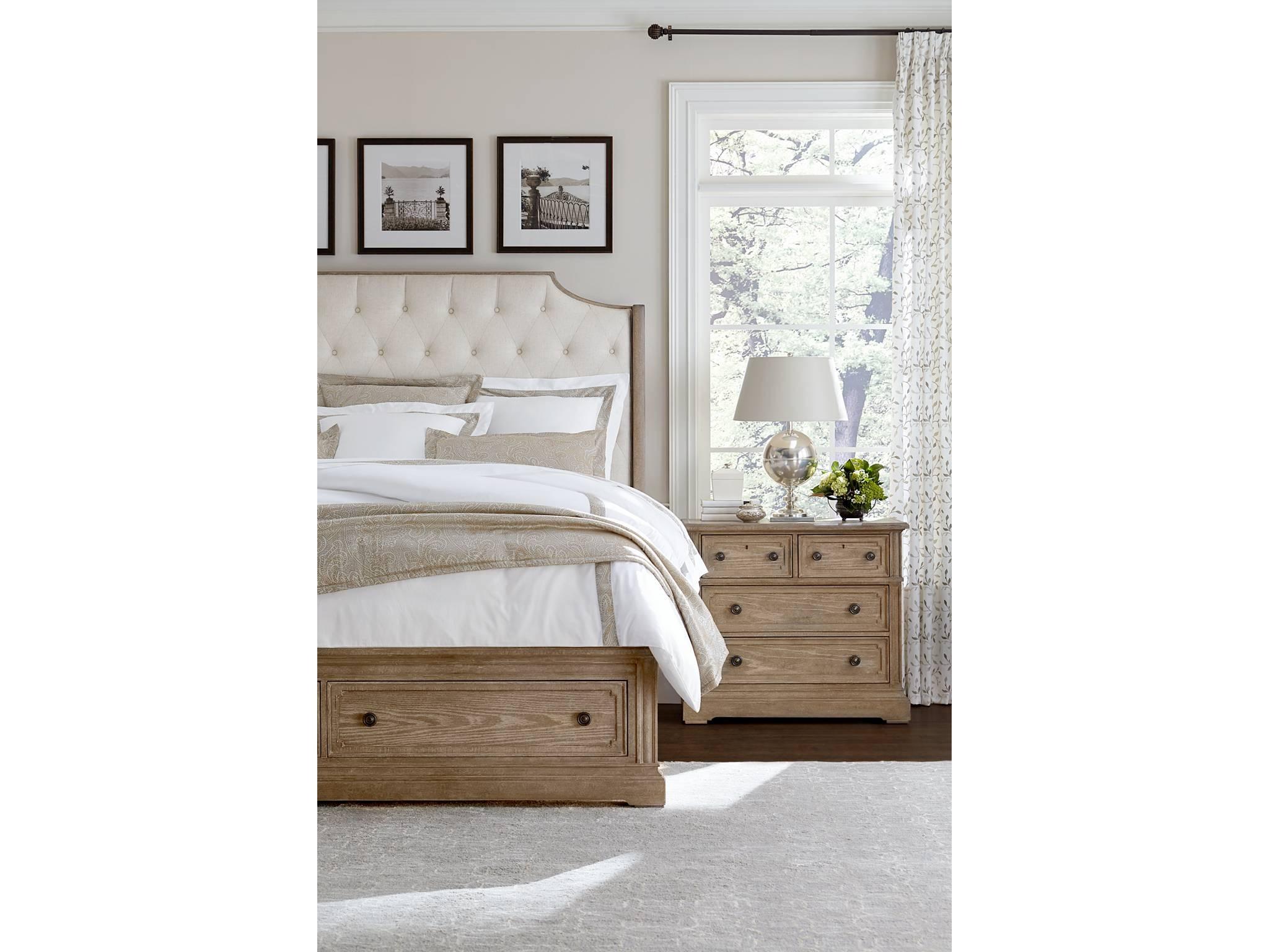 Stanley Furniture Upholstered Storage Bed King 518 13 49