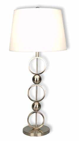 Stylecraft Lamps Lamps And Lighting Table Lamp And Shade 31 Inch BP7591  BRUSHED STEEL At High Point