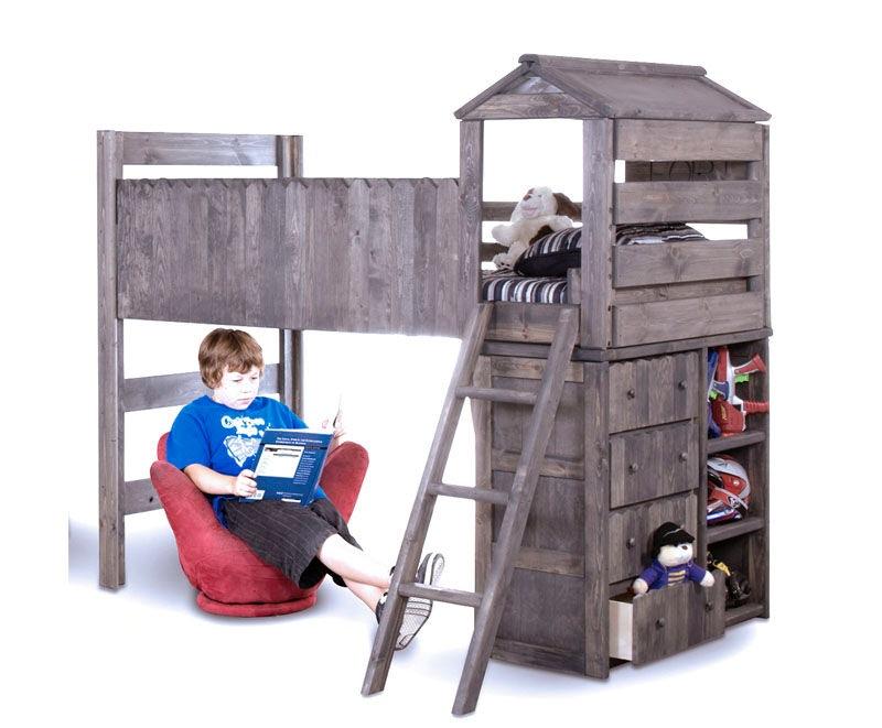 Trendwood Youth Bedroom Fort Loft Frame 4269 Evans