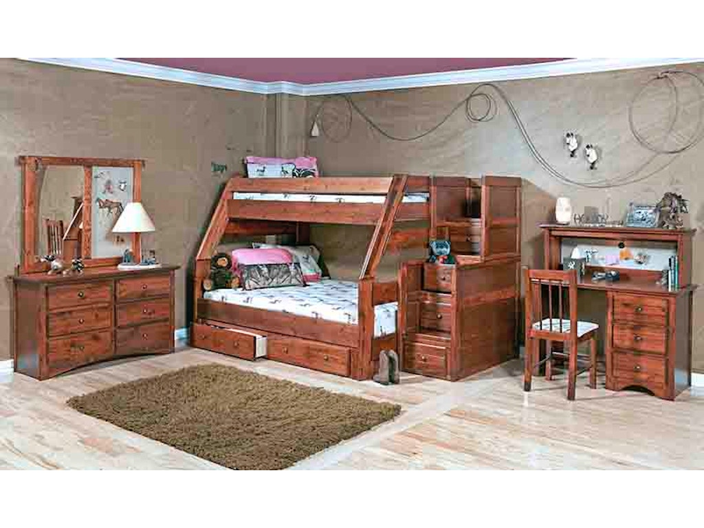 Trendwood Youth Trundle Bed 4466 Sawmill Inc E