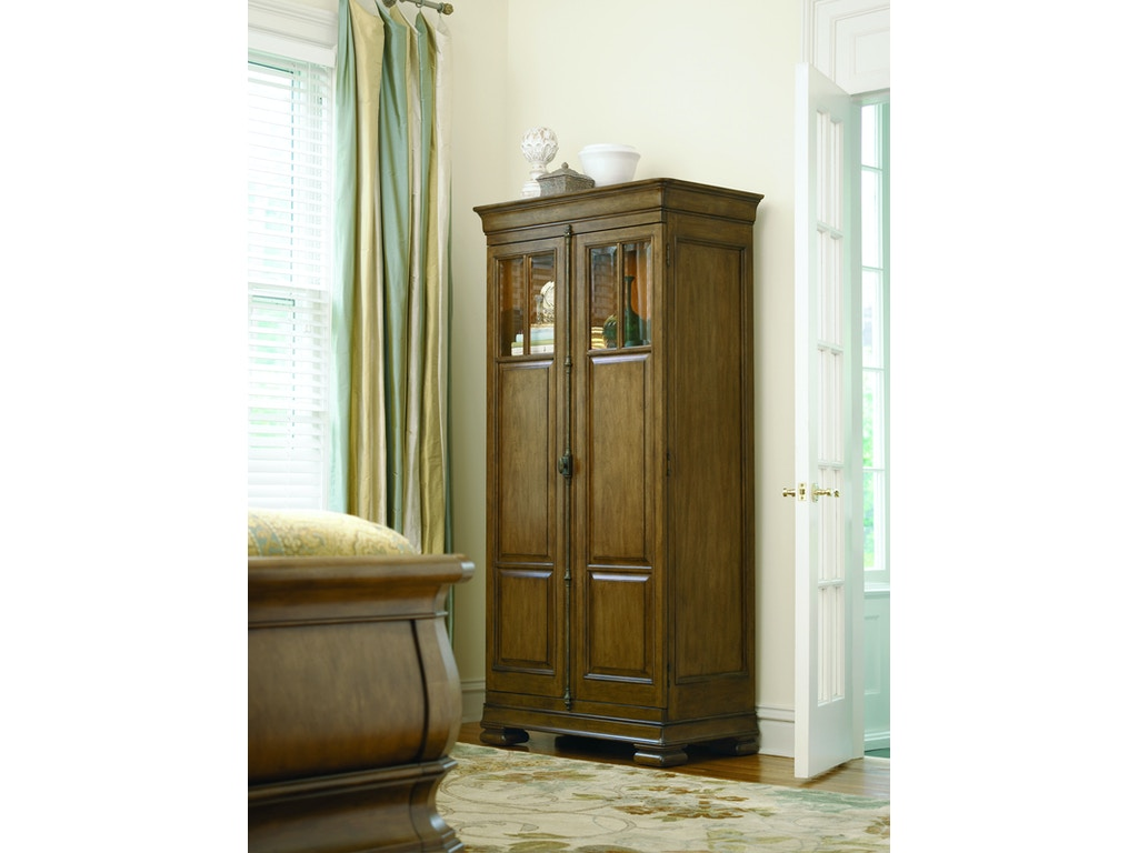 Universal furniture bedroom tall cabinet 071160 lenoir for Kitchen cabinets johnson city tn