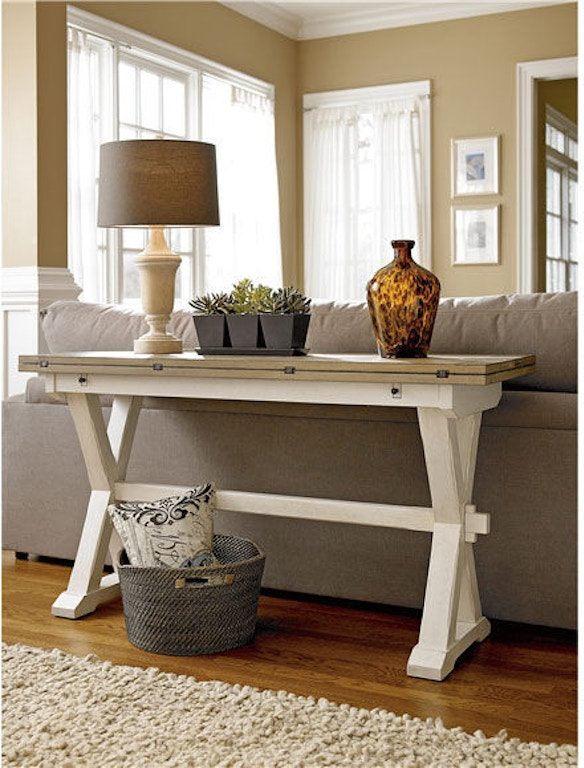 Universal Furniture Living Room Drop Leaf Console Table 128816