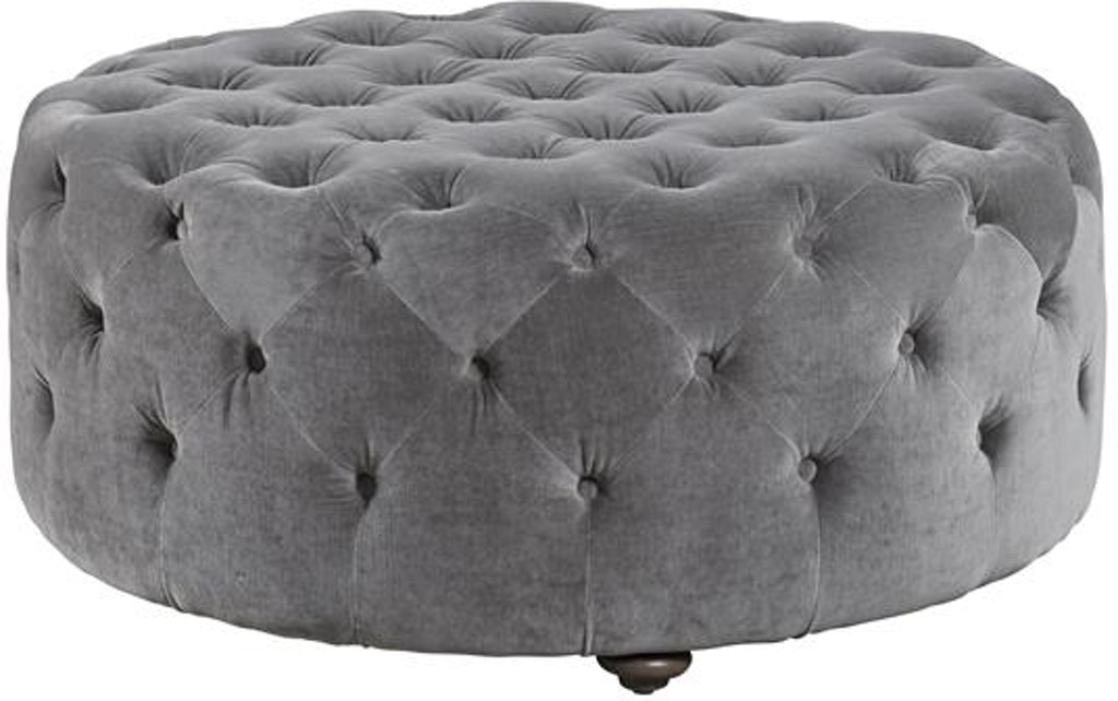 Ottomans Ellis Dark Grey Velvet Finish Storage Chest: Universal Furniture Living Room Aberdeen Ottoman 537504