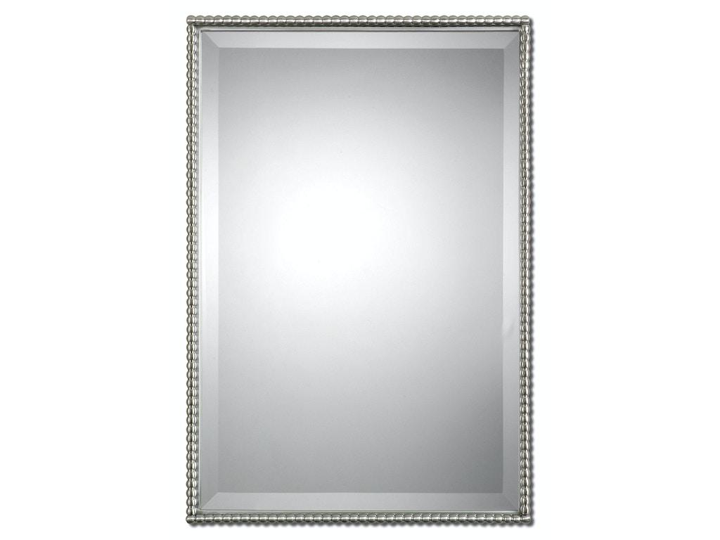 Uttermost Bedroom Sherise Brushed Nickel Mirror 01113