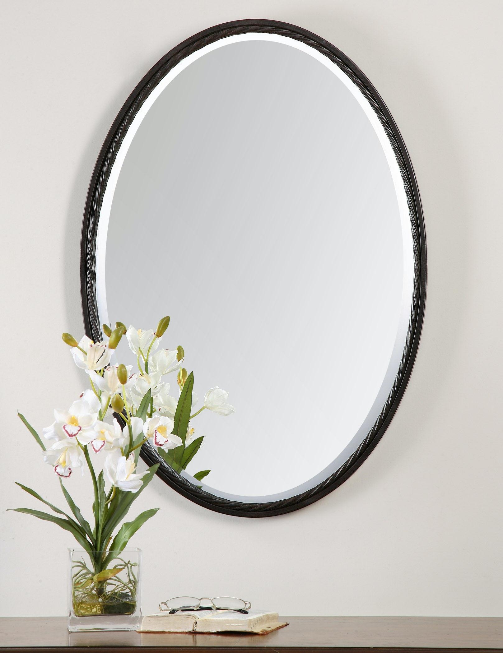 Uttermost Bedroom Casalina Oil Rubbed Bronze Oval Mirror 01116