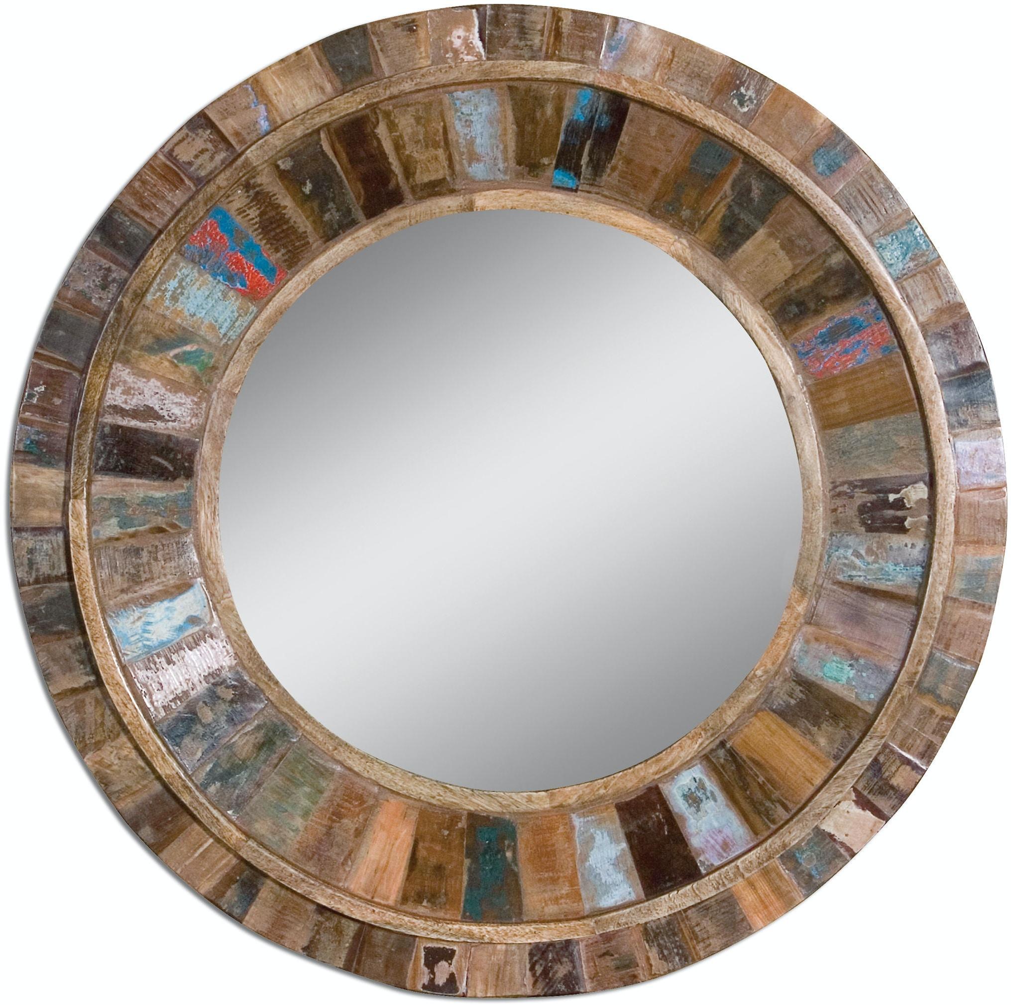 Uttermost Bedroom Jeremiah Round Wood Mirror 04017