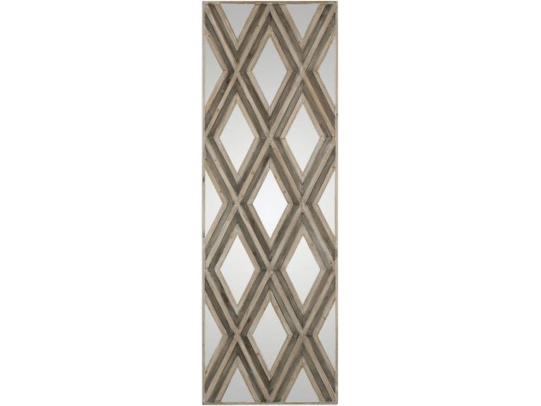 Uttermost Tahira Geometric Argyle Pattern Wall Mirror 04116