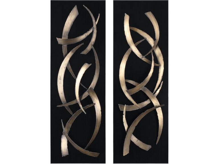 Uttermost Brushstrokes Metal Wall Art S 2 04139