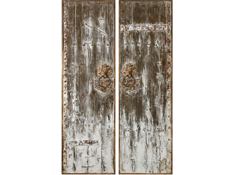 Accessories Giles Aged Wood Wall Art S