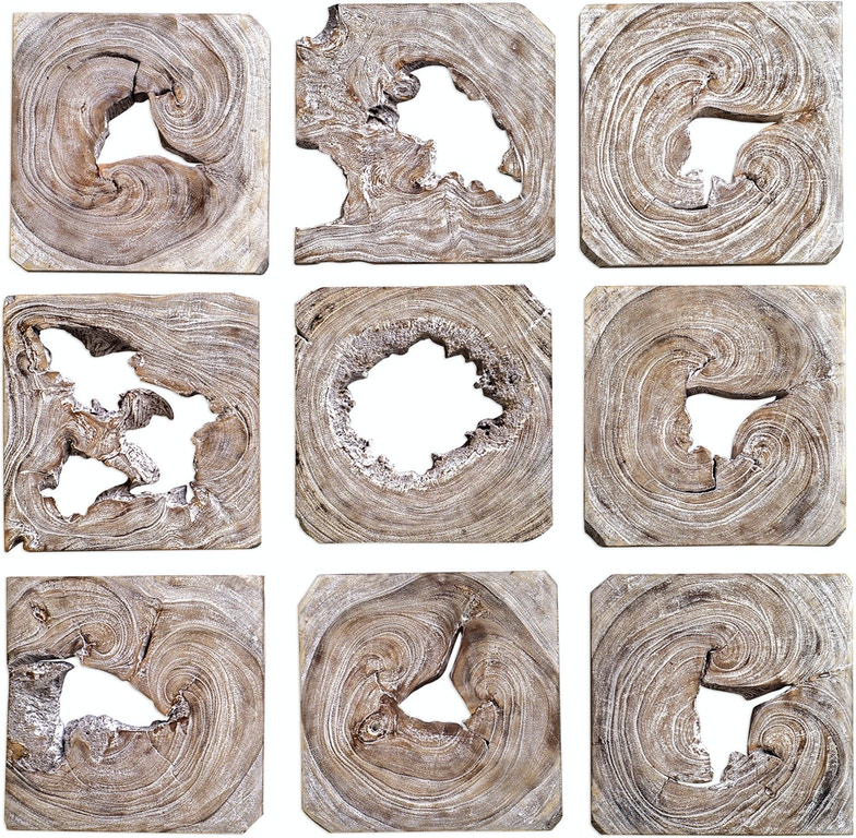 Uttermost Accessories Bahati Wood Wall Art, S/9 04177 ... on