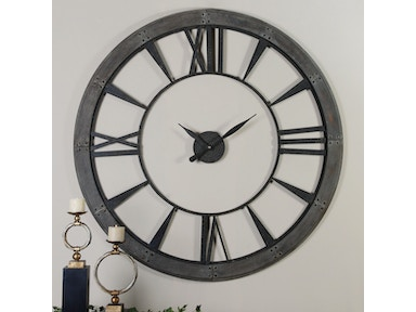8128312ec0ef Uttermost Accessories Ronan Wall Clock, Large 6084 - Giorgi