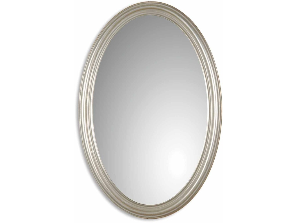 Uttermost bedroom franklin oval silver mirror 08601 p for Mirror quality