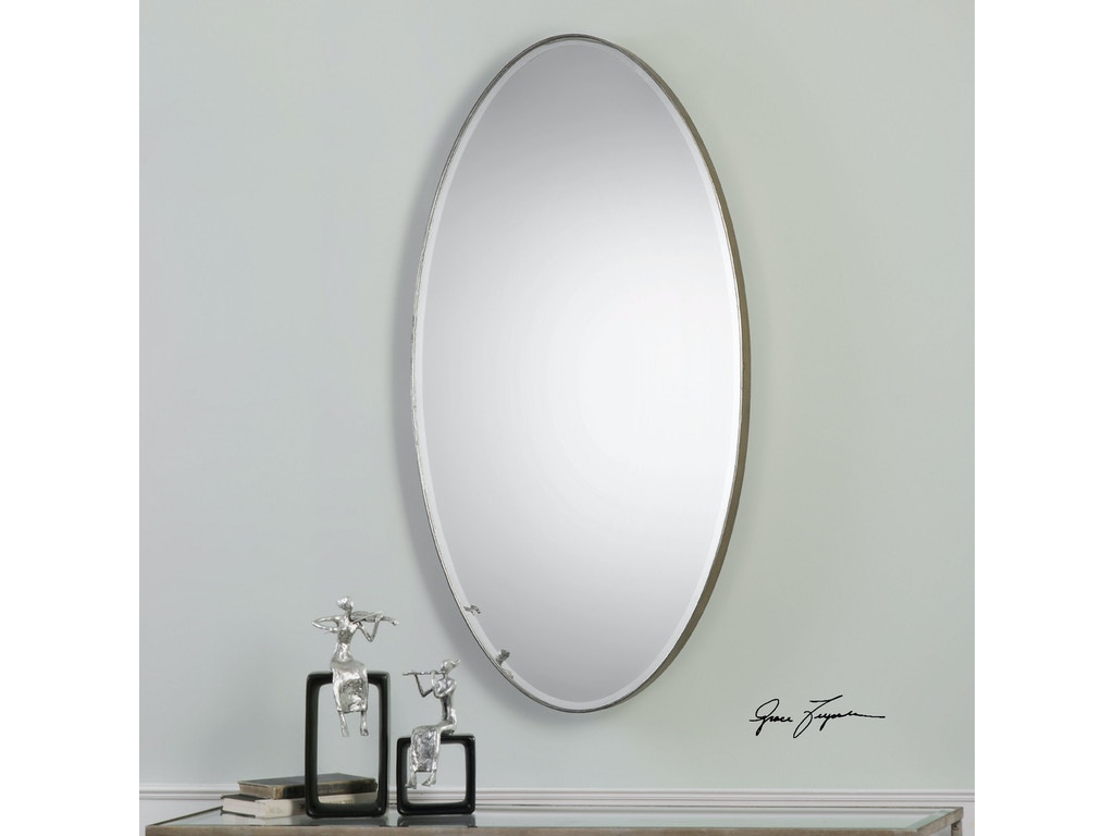 Uttermost bedroom petra oval mirror 09095 mcarthur for Oval mirror canada