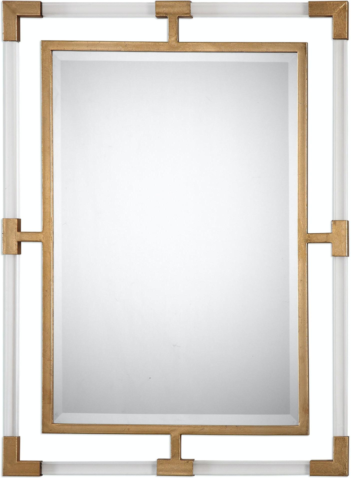 Uttermost Accessories Balkan Modern Gold Wall Mirror 09124 Howard Lorton Furniture Design
