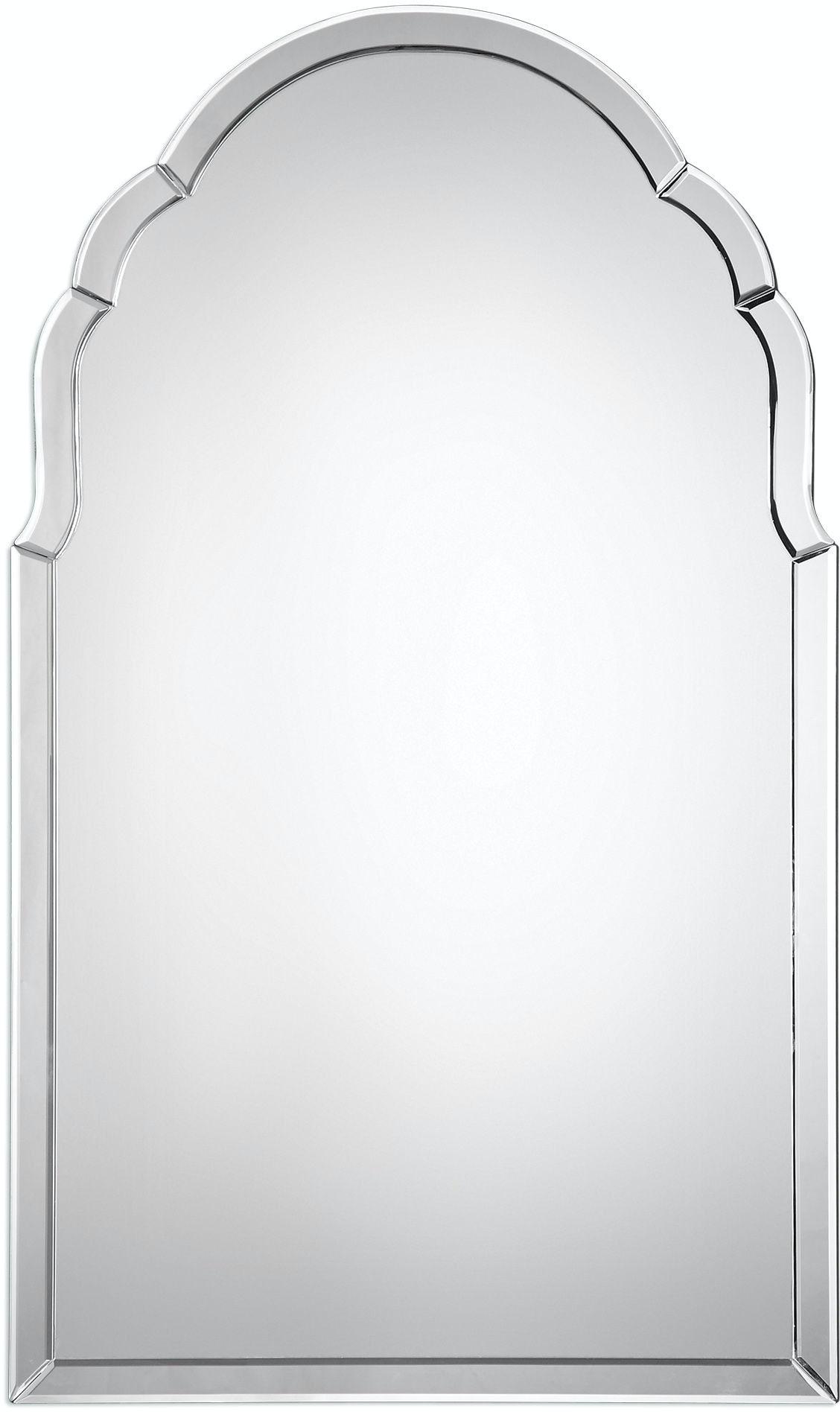 Uttermost Bedroom Brayden Frameless Arched Mirror 09149