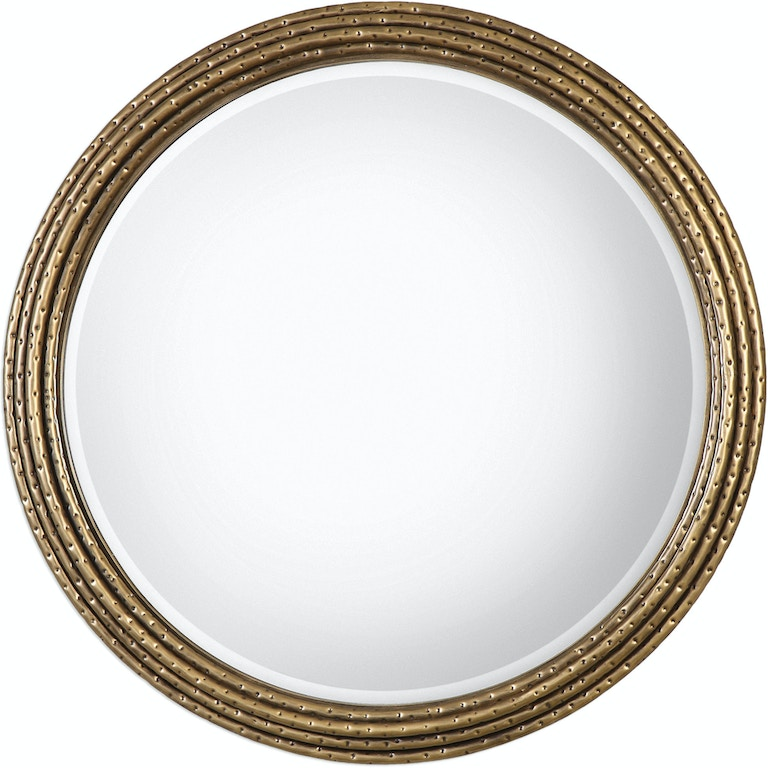 Uttermost Accessories Spera Round Gold Mirror 09183