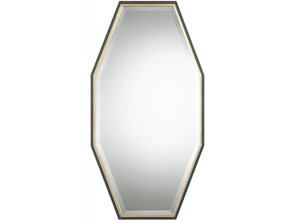 Uttermost bedroom savion gold octagon mirror 09258 for Mirror quality