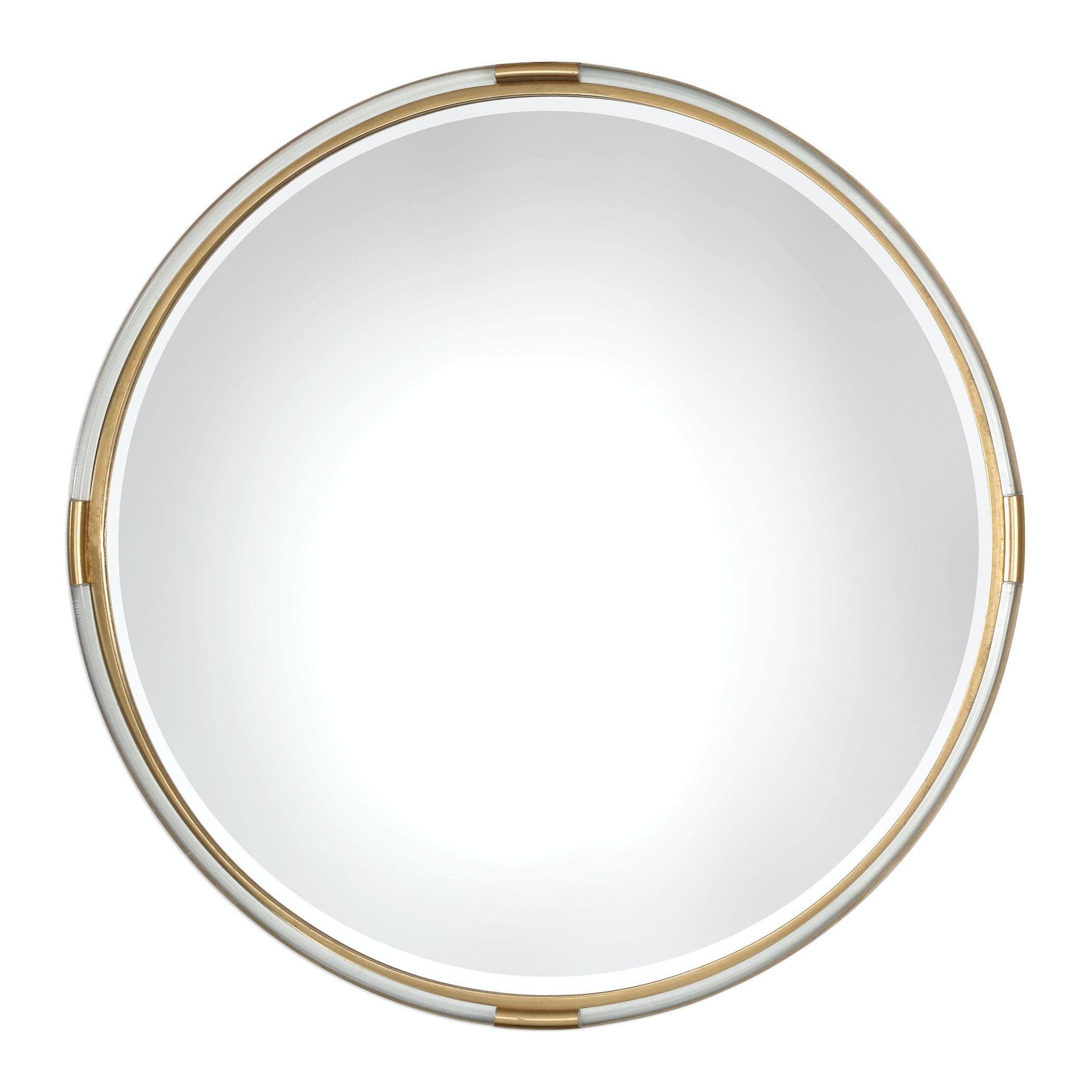 round gold mirror ornate uttermost mackai round gold mirror 09333 accessories wells home