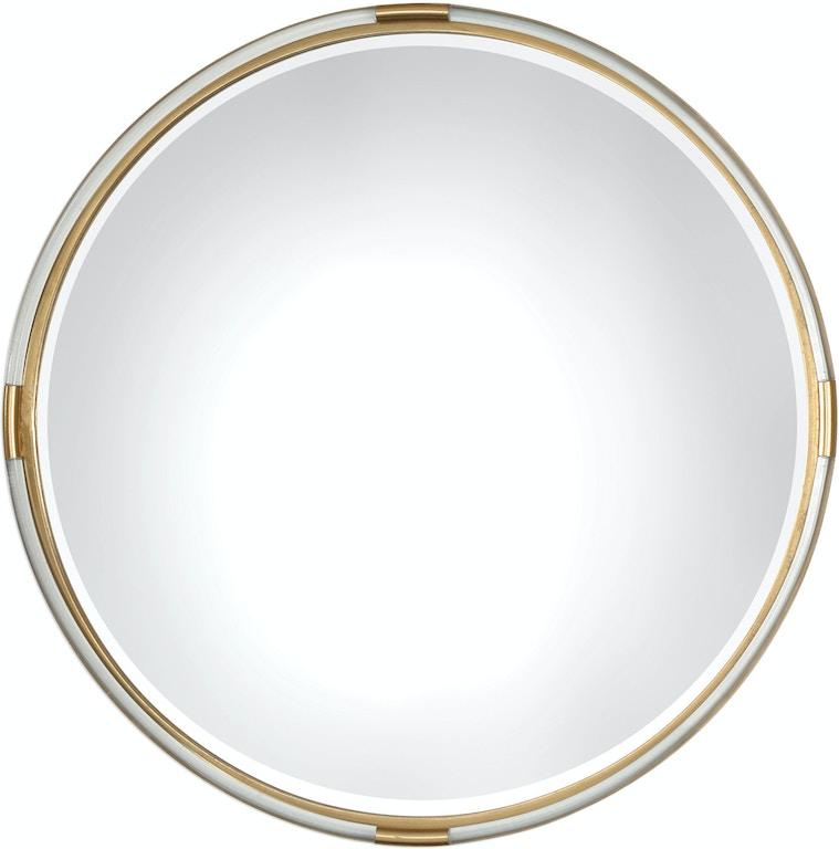 Uttermost accessories mackai round gold mirror 09333 for Round mirror canada