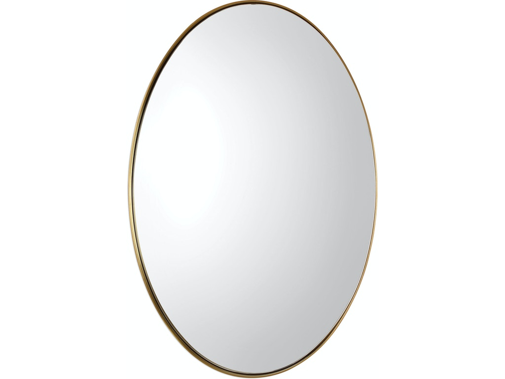 Uttermost accessories pursley brass oval mirror 09353 for Oval mirror canada