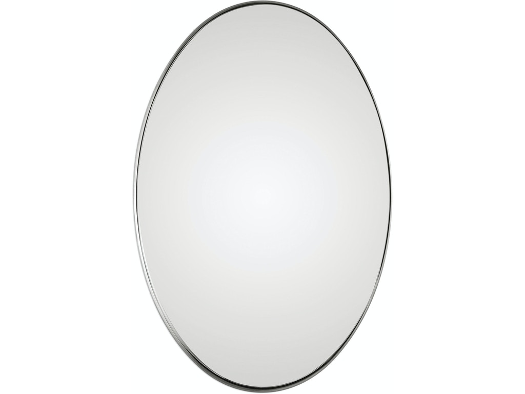 Uttermost accessories pursley brushed nickel oval mirror for Oval mirror canada