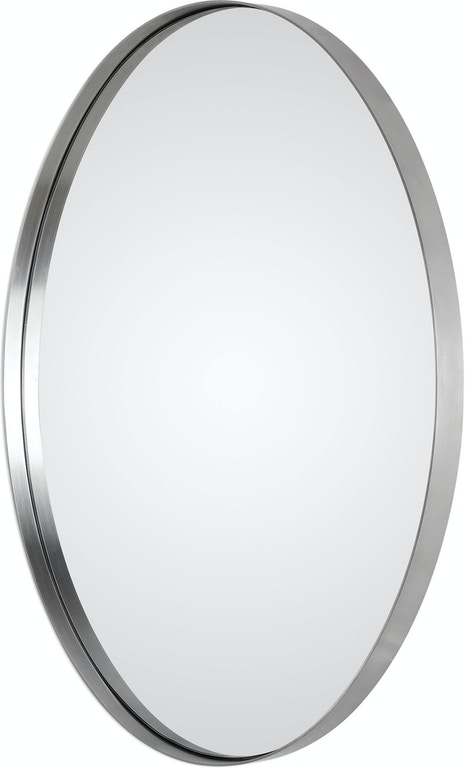 Uttermost Pursley Brushed Nickel Oval Mirror 09354