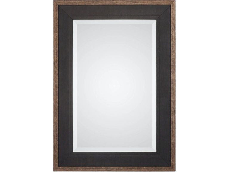 Uttermost Mirrors Staveley Rustic Black Mirror 09377 Portland Or Key Home Furnishings