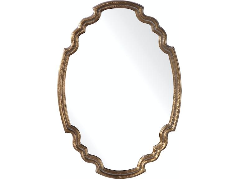 Uttermost Accessories Ariane Gold Oval Mirror 09584 Mark Thomas Home Santa Clara Ca