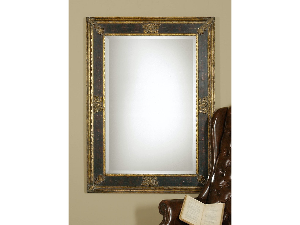 Cadence small antique gold mirror ut11207b for Small gold mirror
