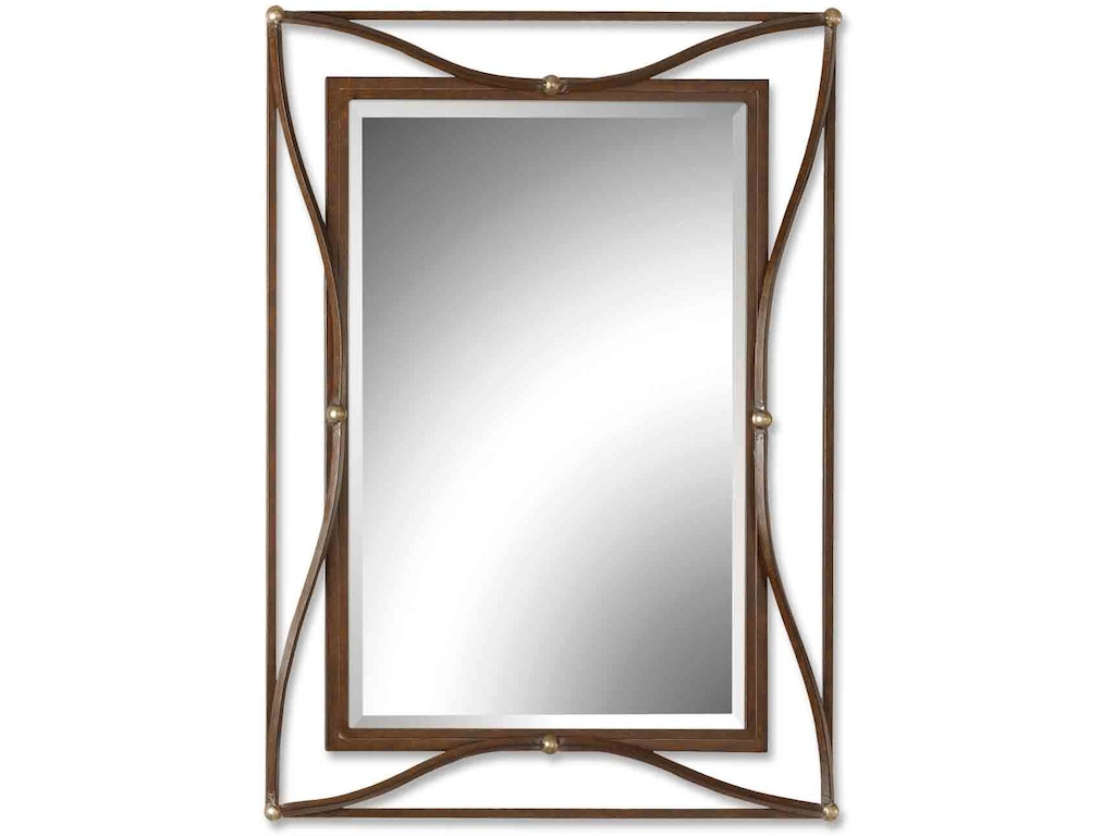 Uttermost bedroom thierry bronze mirror 11547 b hickory for Bronze mirror