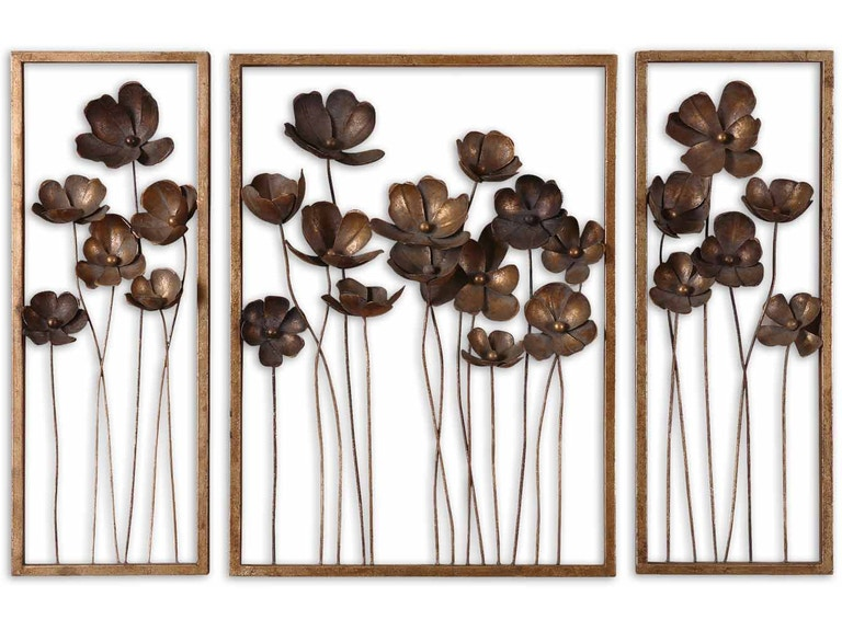 45c819d651 Uttermost Accessories Metal Tulips Wall Art Set/3 12785 at Upper Room Home  Furnishings