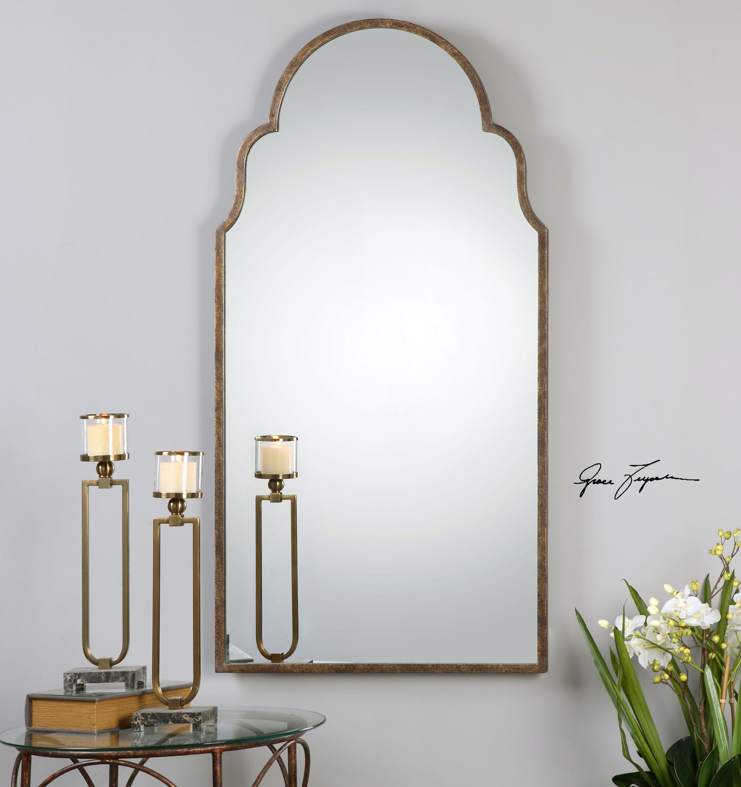 Uttermost Bedroom Brayden Tall Arch Mirror 12905 Upper