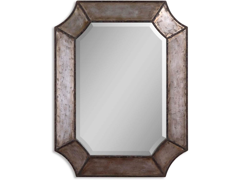 Uttermost Bedroom Elliot Distressed Aluminum Mirror 13628 B