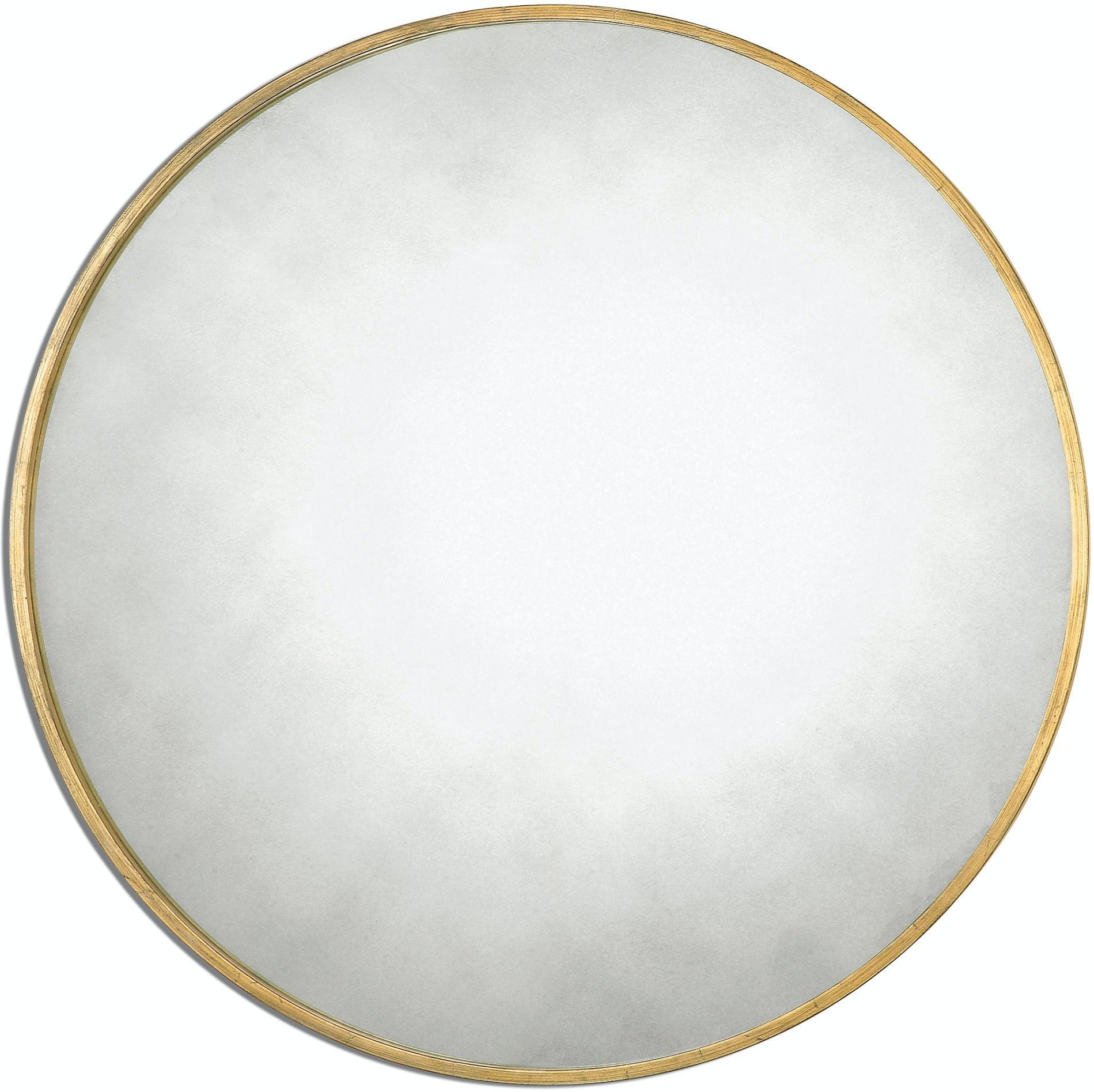 Uttermost Bedroom Junius Round Gold Mirror