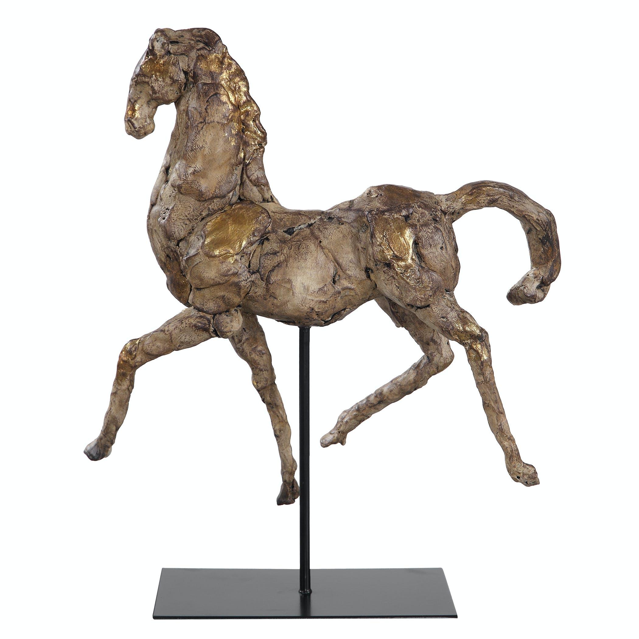Critelli Modern Accessories Caballo Dorado Horse Sculpture 17585 Critelli Modern Furniture St