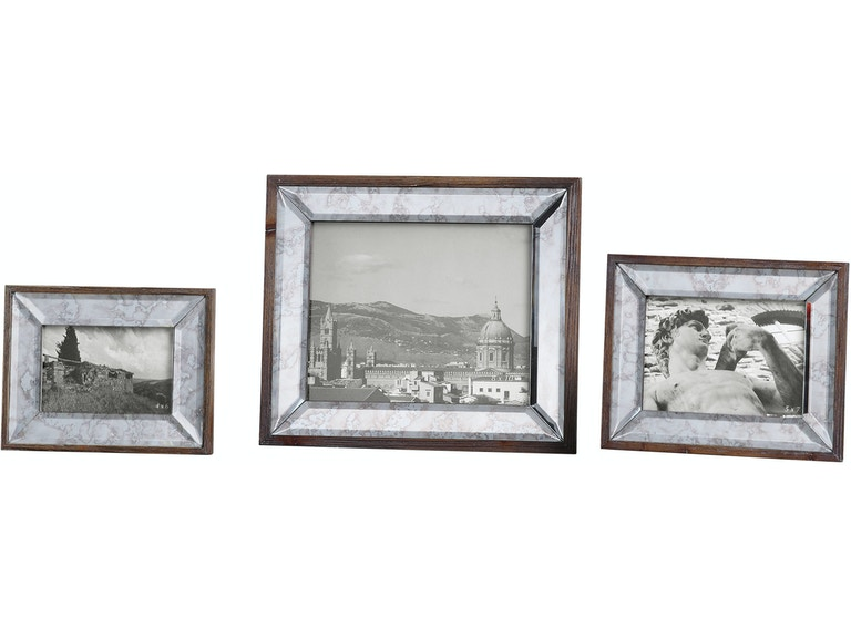 Uttermost Accessories Daria Antique Mirror Photo Frames S/3 18567 ...