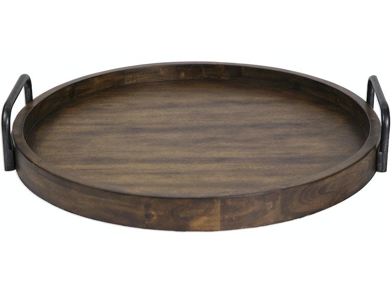 Reine Round Wooden Tray Ut18749